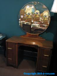 Antique Vanity With Mirror And Bench - vanity with round mirror round designs
