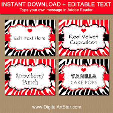 Candy Labels For Candy Buffet by Printable Valentines Day Candy Buffet Labels Editable