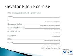entrepreneurship class elevator pitch exercise
