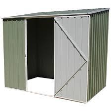 Absco Awning 7 U00275 X 5 U0027 Absco Storemaster 2pe Green Metal Shed Shedstore