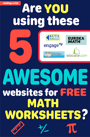 are you using these 5 awesome websites for free math worksheets