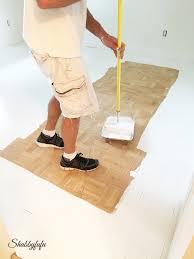 painting a floor diy how to paint wood floors like a pro shabbyfufu com