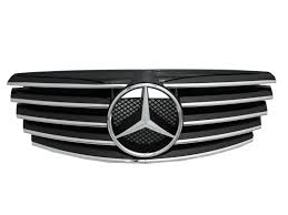 mercedes grill crazythegod w210 2000 2002 faceliftd grille grill 5fin chrome