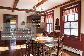 colonial dining room dining room in colonial style home stock photo masterfile