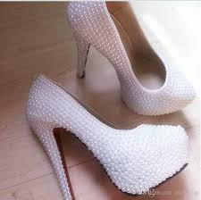 wedding shoes malaysia 2016 pearl white cheap formal gowns evening prom bridal shoes