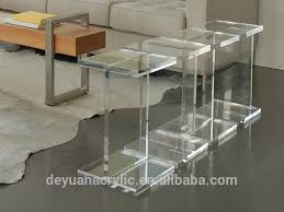clear acrylic coffee table clear acrylic side table with a drawer perspex lucite side end table
