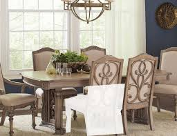 coaster iliana round dining set antique linen iliana 122210