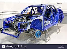subaru hatchback custom rally subaru impreza world rally car being prepared in swrt workshop at
