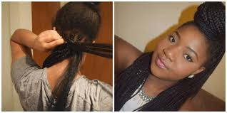 how to braid extensions into your own hair box braid tutorial how to braid your own hair youtube