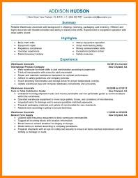 Resume For Packaging Job by 7 Warehouse Job Resume Authorized Letter