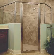 crystalline hinge shower door framed