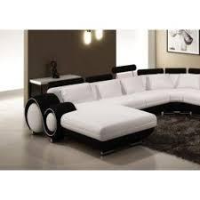 canapé panoramique en cuir canapé panoramique cuir blanc et noir oslo angle achat vente