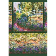 robert kaufman fabrics claude monet garden monet s bridge and iris