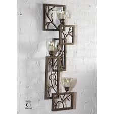 Wall Sconces Candles Holder Uttermost 19736 Iron Branches Wall Sconce Candle Holder In Antique