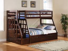 Sleigh Bunk Beds Bunk Beds With Stairs Brown Varnished Mahogany Bunk Bed
