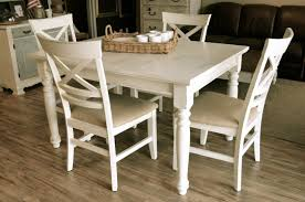 farmhouse off white dining set the workshop