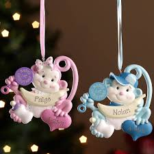 ornaments to personalize personalized baby s christmas monkey ornament walmart