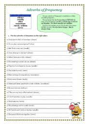 adverbs of frequency worksheet by agnieszka bula