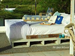 How To Build Pallet Patio Furniture by Diy Pallet Bed With Storage Spaces Pallet Diy Furniture
