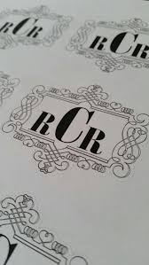 12 best monogram wedding stickers images on pinterest monogram