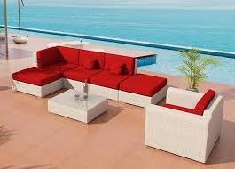 Bellagio Patio Furniture Patio Furniture Bellagio Outdoor Wicker Viro Fiber White Sectional