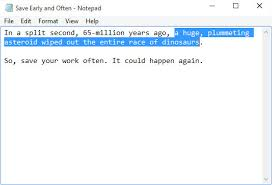 From The Desk Of Notepad How To Cut Copy And Paste In Windows 10 Dummies