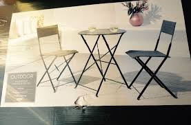 Garden Bistro Chairs Attractive Tesco Bistro Chairs Roma Balcony Bistro Set Outdoor