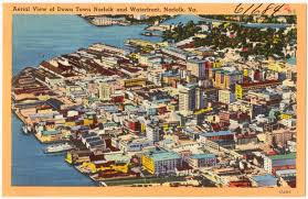 Map Of Norfolk Virginia by Aerial View Of Down Town Norfolk And Waterfront Norfolk Va