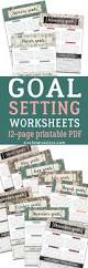 monthly goal setting worksheets for 2018 six clever sisters