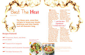 magazine layout assignment two page spread of cooking light