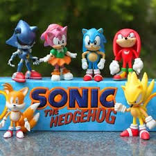 sonic cake topper 6 sonic the hedgehog figures kid display figurines cake