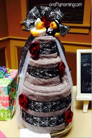 towel cakes diy bridal shower towel cake gift idea crafty morning
