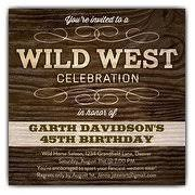 western party invitations paperstyle