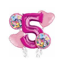 birthday balloon bouquets pony 5th birthday balloon bouquet 5pc