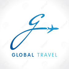 G fly travel company logo airline global business travel logo