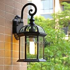 Outdoor Wall Sconce Affordable House Shaped Wrought Iron Outdoor Wall Sconces Lighting