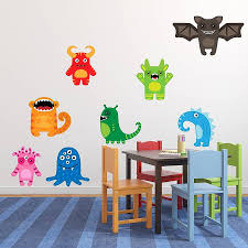monster wall decals for decoration inspiration home designs