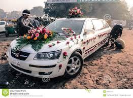 indian wedding car decoration india wedding car decoration stock photo image 77360044