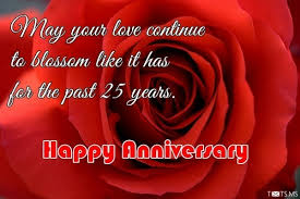 wishes 25 year with wishes 25th wedding anniversary wishes messages quotes images for