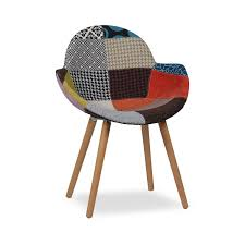 wooden arms grey and colors patchwork chair design icon chairs as