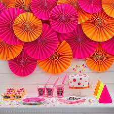 vaisselle jetable fete vaisselle jetable anniversaire fluo holly party