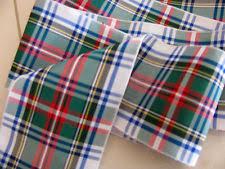 blackwatch blue green tartan plaid ribbon wide 2 3 4 by the