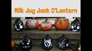 Milk Jug Crafts Halloween by Diy Halloween Decorations No Carve Pumpkin Milk Jug Lanterns Youtube