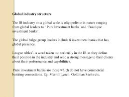 Investment Banking League Tables The Investment Banking Paradigm