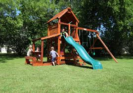 swing sets rustler u0026 wrangler backyard fun factory