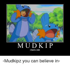 mudkip i herd u leik mudkipz you can believe in meme on me me