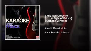 prince corvette original corvette in the style of prince karaoke version