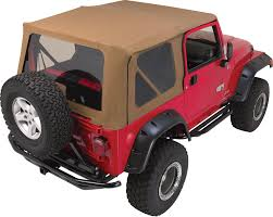 rampage products complete soft top kit for 97 06 jeep wrangler tj