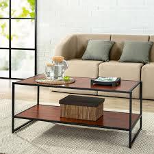 modern studio collection deluxe rectangular coffee table walmart com