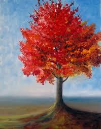 priti lathia s fall tree plein air